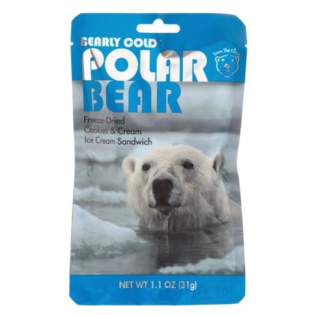 Backpacker's Pantry Polar Bear Freeze-Dried Cookies and Cream Ice Cream Sandwich - 1 Serving