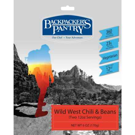 Backpacker's Pantry Wild West Vegetarian Chili and Beans - 2 Servings in See Photo - Closeouts