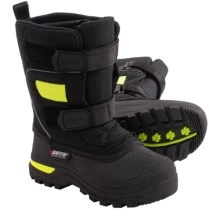 Baffin Bandit Snow Boots - Waterproof (For Little Kids) in Black/Floro Green - Closeouts