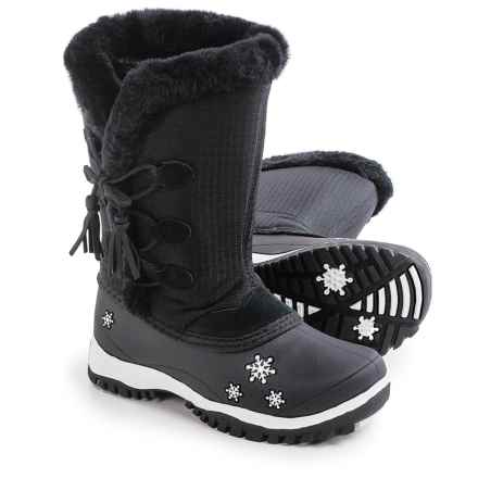 Baffin Cadee Snow Boots - Waterproof (For Little Girls) in Black - Closeouts