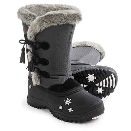 Baffin Cadee Snow Boots - Waterproof, Insulated (For Big Girls) in Charcoal - Closeouts