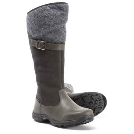 ef597e14ba0 Baffin Como Tall Quilted Winter Boots - Waterproof (For Women) in Charcoal  - Closeouts