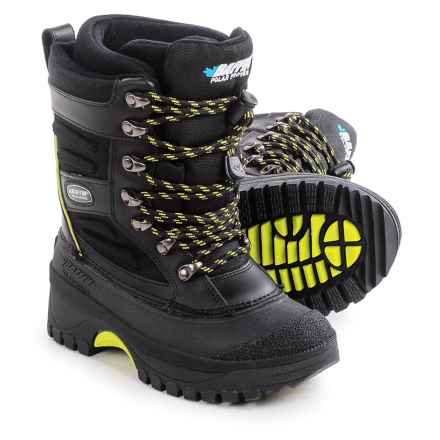 Baffin Crossfire Snow Boots - Waterproof, Insulated (For Little and Big Kids) in Black/Floro Green - Closeouts