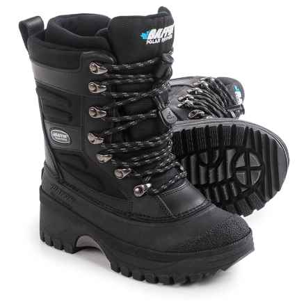 Baffin Crossfire Snow Boots - Waterproof, Insulated (For Little and Big Kids) in Black - Closeouts