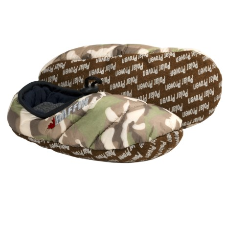 Baffin Cush Slippers - Insulated (For Women) in Brown Camo