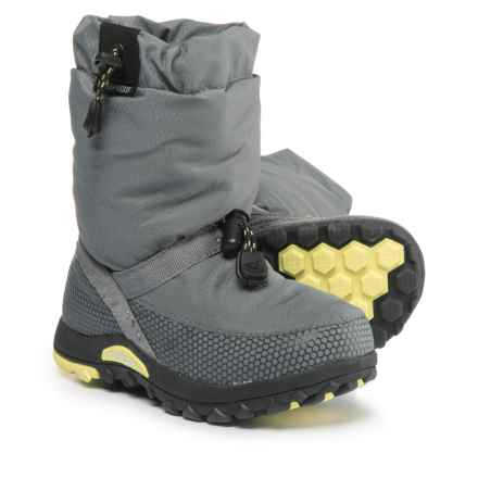 Baffin Ease Snow Boots - Waterproof, Insulated (For Boys) in Grey/Floro Green - Closeouts