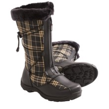 Baffin Halifax Snow Boots - Waterproof, Insulated, Full Zip (For Women) in Black/Beige - Closeouts