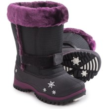 Baffin Lily Snow Boots - Waterproof, Insulated (For Toddlers) in Black/Plum - Closeouts