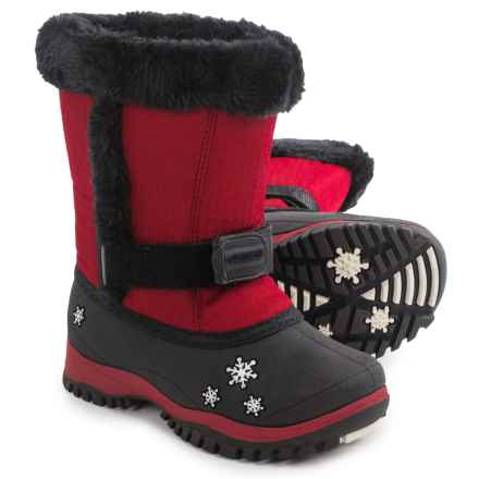 Baffin Lily Snow Boots - Waterproof, Insulated (For Toddlers) in Dark Red - Closeouts
