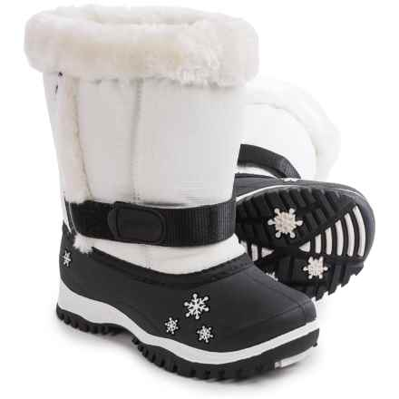 Baffin Lily Snow Boots - Waterproof, Insulated (For Toddlers) in White - Closeouts