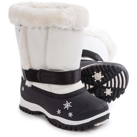 Baffin Lily Snow Boots - Waterproof, Insulated (For Toddlers) in White