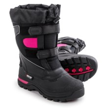 Baffin Marauder Pac Boots - Waterproof, Insulated (For Big Kids) in Black/Hyper Berry - Closeouts