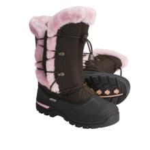 Baffin Melody Winter Pac Boots - Insulated (For Youth) in Chocolate/Pink - Closeouts
