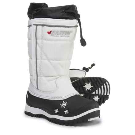 Baffin Pac Boots - Waterproof, Insulated (For Girls) in White - Closeouts