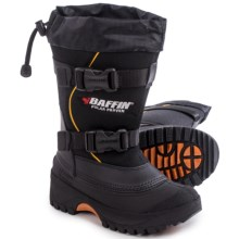 Baffin Young Wolf Pac Boots - Waterproof, Insulated (For Big Kids) in Black/Expedition Gold - Closeouts