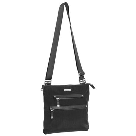 baggallini All Around Medium Crossbody Bag (For Women) in Black/Sand Lining