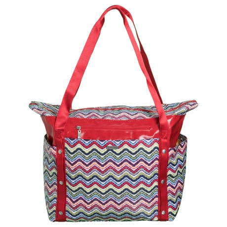 baggallini Beach Tote Bag (For Women) in Wave Print Multi