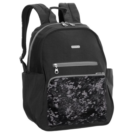 baggallini Cargo Backpack (For Women) in Black Scatter