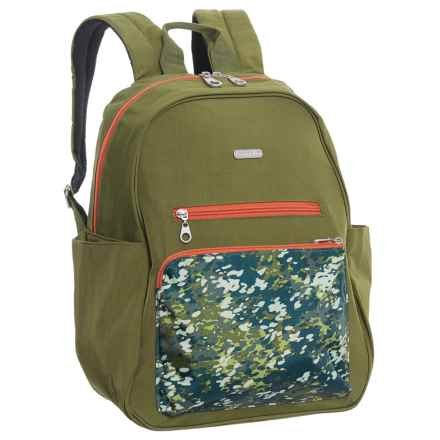 baggallini Cargo Backpack (For Women) in Green Scatter - Closeouts