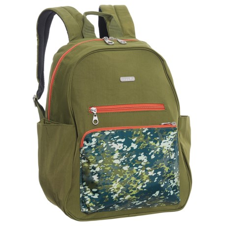 baggallini Cargo Backpack (For Women) in Green Scatter