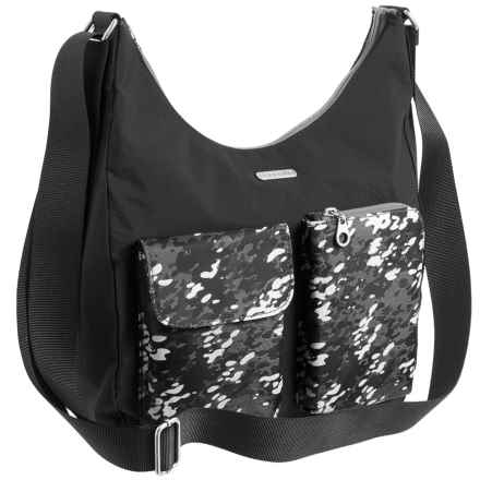 baggallini Cargo Hobo Bag (For Women) in Black Scatter - Closeouts