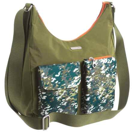 baggallini Cargo Hobo Bag (For Women) in Green Scatter - Closeouts