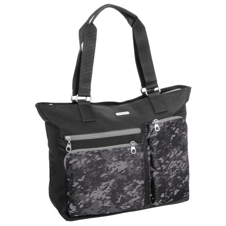 baggallini Cargo Tote Bag (For Women) in Black Scatter