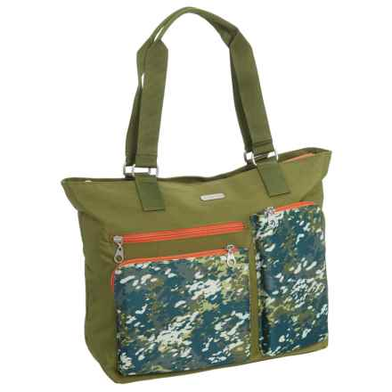 baggallini Cargo Tote Bag (For Women) in Green Scatter - Closeouts