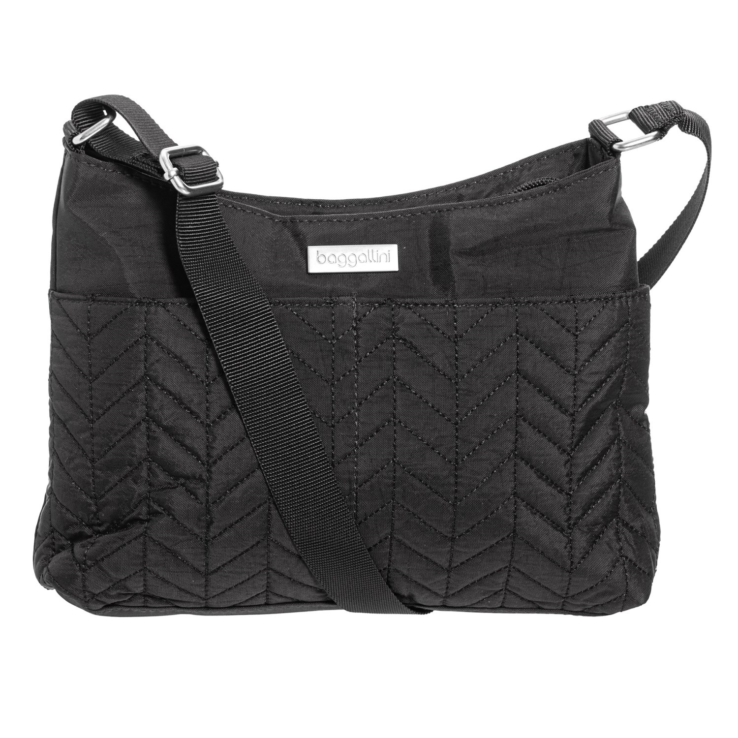 0fd6448ff0 baggallini Chevron Quilted Crossbody Bag (For Women) in Black ...