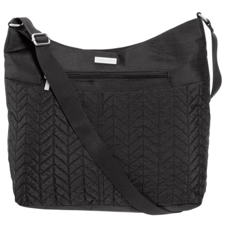 3e434e43c2 baggallini Chevron Quilted Hobo Bag (Women) in Black - Closeouts