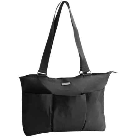 baggallini East West Tote Bag (For Women) in Black/Sand Lining - Closeouts