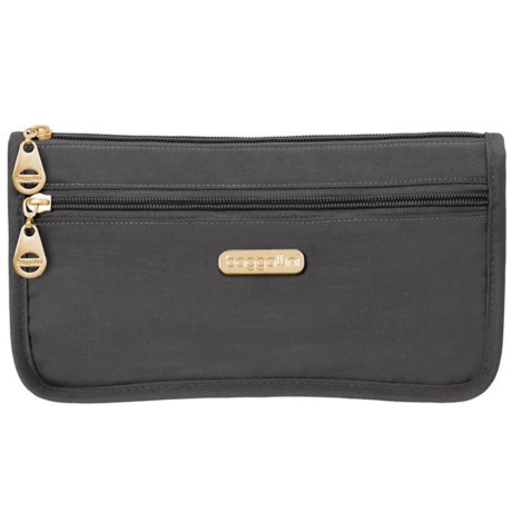 baggallini Fiji Large Wedge Case (For Women) in Charcoal