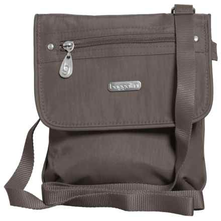 baggallini Flap 2 It Crossbody Bag (For Women) in Graphite - Closeouts