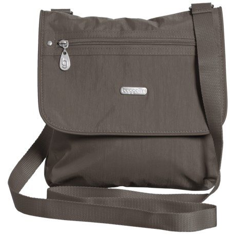 baggallini Flap 2 It Large Crossbody Bag (For Women) in Graphite