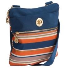 baggallini Gold Hanover Crossbody Bag (For Women) in Pacific Stripe - Closeouts