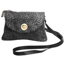 baggallini Gold Nassau Crossbody Bag (For Women) in Pewter Floral - Closeouts