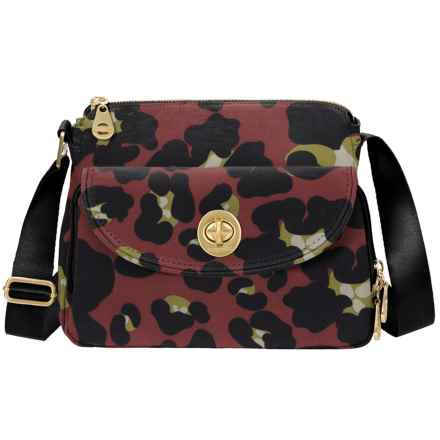 baggallini Gold Provence Crossbody Bag (For Women) in Scarlet Cheetah - Closeouts