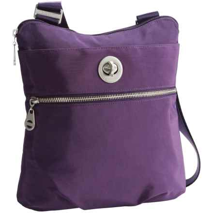 baggallini Hanover Crossbody Bag - Silver Hardware (For Women) in Grape - Closeouts