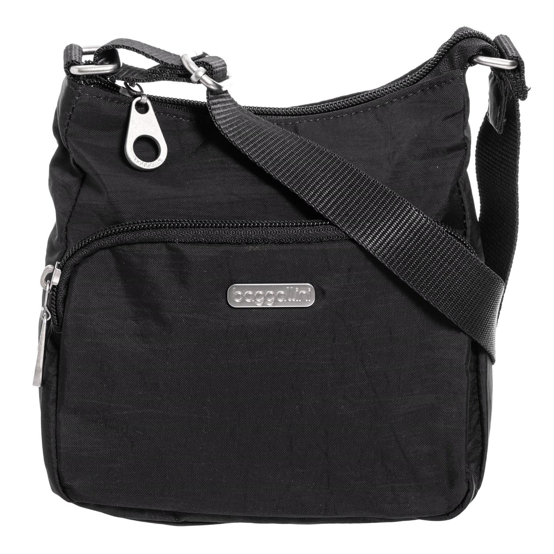 Baggallini Joey Small Hobo Bag For Women In Black