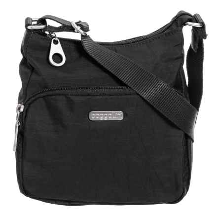 Baggallini Joey Small Hobo Bag For Women In Black Closeouts