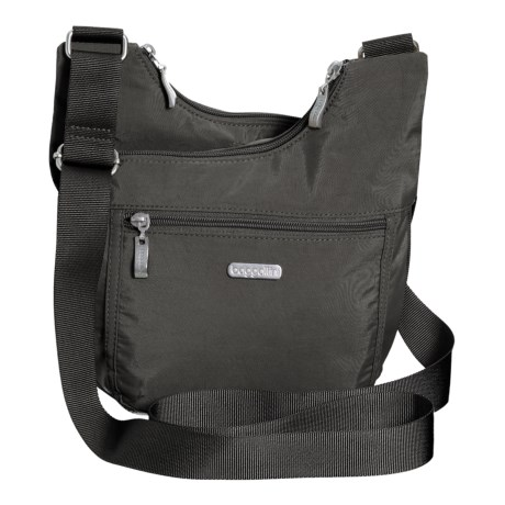 baggallini Pocket Crossover Crossbody Bag (For Women) in Charcoal