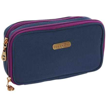 baggallini Vienna Cosmetic Case (For Women) in Slate Blue - Closeouts
