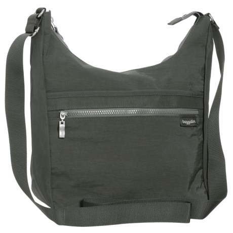 baggallini Vislon Sidekick Hobo Bag (For Women) in Charcoal