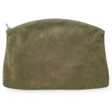 Baggu Leather Clutch (For Women) in Olive Suede - Closeouts