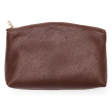 Baggu Small Leather Clutch (For Women) in Molasses - Closeouts