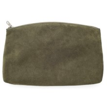 Baggu Small Leather Clutch (For Women) in Olive Suede - Closeouts