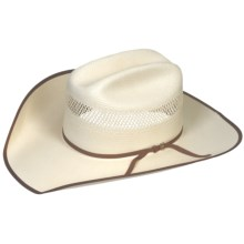 Bailey Bassick Cowboy Hat - 10X Shantung Straw, Cattleman Crown (For Men and Women) in Ivory - Closeouts