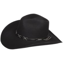Bailey Bennett Cowboy Hat - 2X Wool Felt, Hondo Crown (For Men and Women) in Black - Closeouts