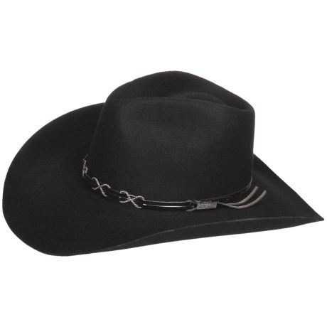 Bailey Bennett Cowboy Hat - 2X Wool Felt, Hondo Crown (For Men and Women) in Black