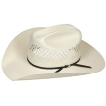 Bailey Burke Cowboy Hat - 7X Shantung Straw, Cattleman Crown (For Men and Women) in Ivory - Closeouts